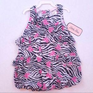 Fancy butterfly zebra sleeveless blouse top 24mo